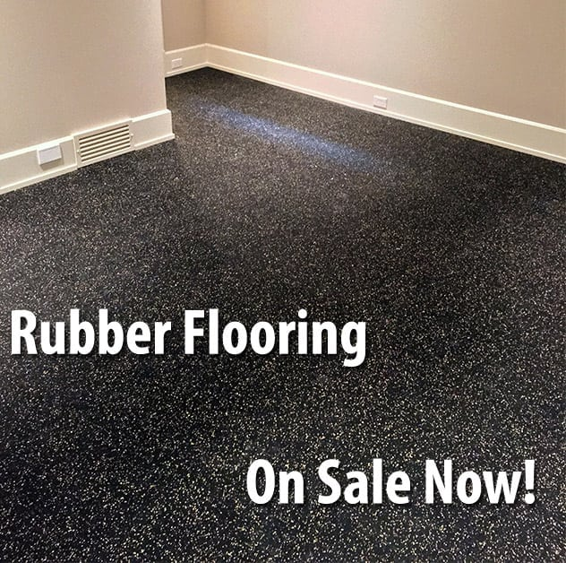 Corner of room with quality rubber flooring.