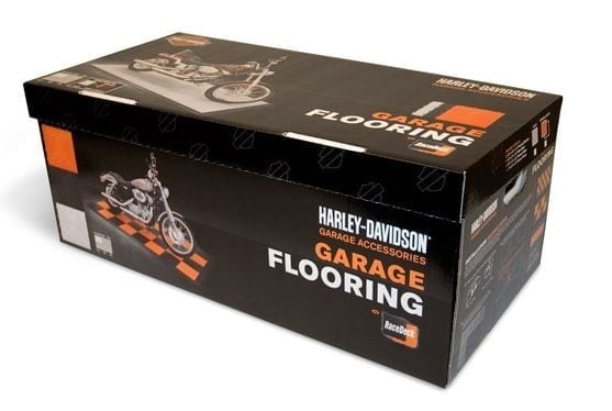 Harley rubber flooring