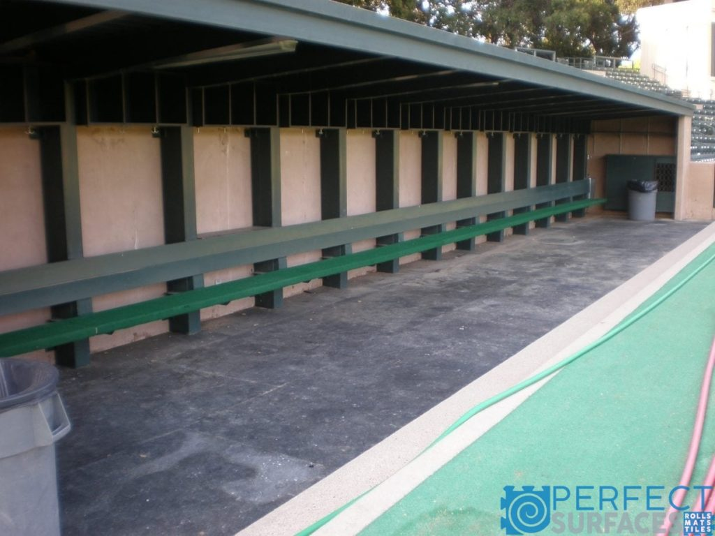 Baseball Dugout Rubber Flooring