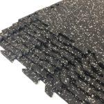 Rubber interlocking tiles